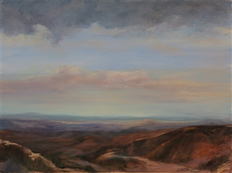 Margret Carde - View from the Sandias Oil on Canvas, Paintings