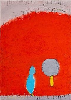 toNI Altenstrasser - Waiting - We See Us Oil on Canvas, Paintings