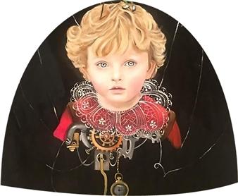 Rosana Largo Rodríguez - Cyborg Oil on Canvas of Wood, Bell Shape, Paintings