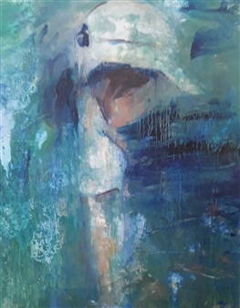 Brian Fiz - Moments 1 Oil on Canvas, Paintings