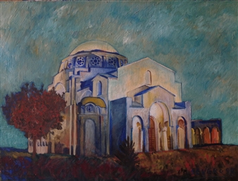 Blanca Severo - Iglesia de la Cruz Oil on Canvas, Paintings