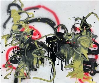 Marek Wasylewicz - Sat 1 Acrylic & Oil on Canvas, Paintings
