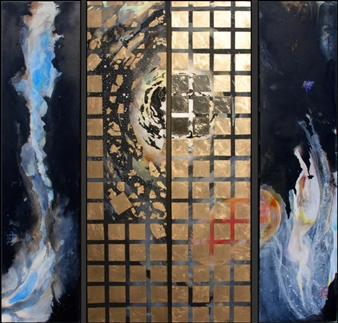 Westby and Mercier - Seemingly Endless Ink & Gold on Canvas, Mixed Media