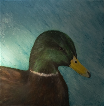Julius L. Meyer - Duke City Duck Acrylic & Oil on Canvas, Paintings