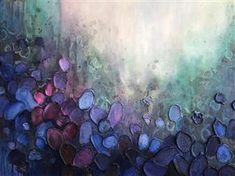 Tiffany Reid - Sea of Bloom Acrylic on Canvas, Paintings