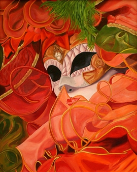 Maribel Matthews - Masquerade Oil on Canvas, Paintings