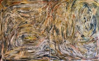 David Lionheart - The Goldest Eagle Acrylic on Canvas, Paintings