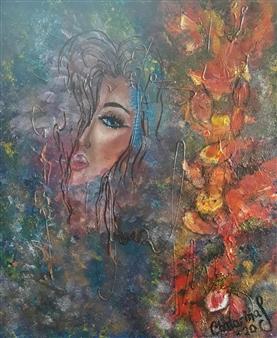 Chatarina Salomonsson - Behind Scars Acrylic on Canvas, Paintings