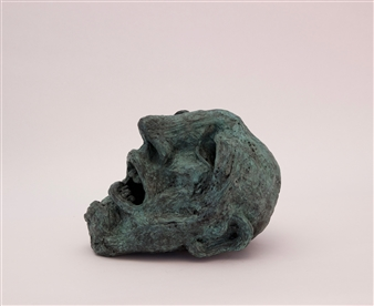 Emil Silberman - Head of a Homeless Man Bronze, Sculpture