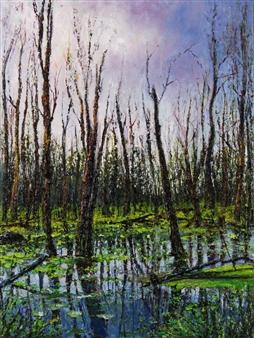 Deana Evstefeeva - Sanctum Sanctorum Oil on Canvas, Paintings