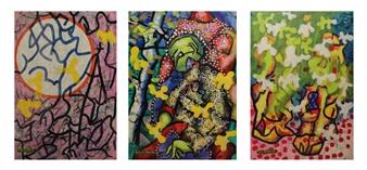 Koncept Feniks - Butterflies_03, 1987-2015 Dispersion & Gouache on Paper, Paintings