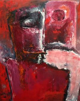 Hanneke Kempers - Couple 4 Oil on Canvas, Paintings