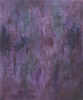 Laura Menzies - Inscribed Oil & Ink on Canvas, Paintings