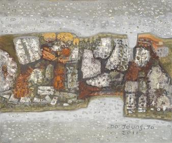 Soilart Jo-DoJoong - Stonewall Story 1 Soil on Canvas, Paintings