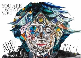 GLIL - John Lennon 2 Paper/Collage, Mixed Media