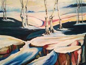 D. L. Brabander - Spring Thaw 2 Oil on Canvas, Paintings