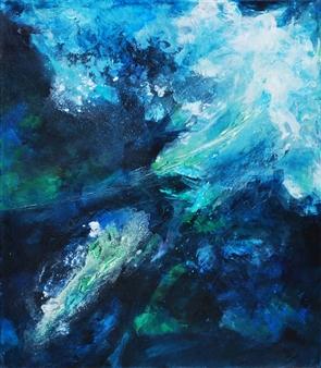 Ingrid Strecker - Plankton III Acrylic on Canvas, Paintings