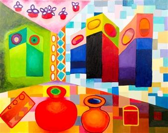 J.H. Rebelato - E 202B Oil on Canvas, Paintings