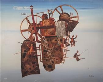 Madina Pavlyuk - Takeoff Oil on Canvas, Paintings