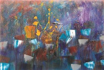 Saurabh Mohan - Emergence 3 Acrylic on Canvas, Paintings