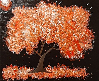 ArtDuRealisme - Rose Tree Oil on Canvas, Paintings