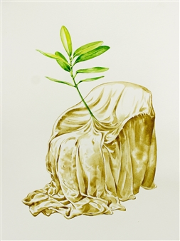Venugopal V.G. - Germinate Watercolor on Paper, Paintings