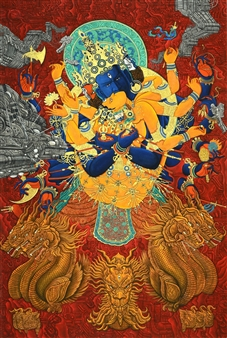 Guanzhong Ge - 迷- 众香界 Where Buddha Resides Ink & Color on Paper, Mixed Media