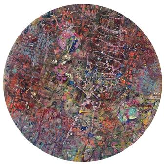 Denel-KK (Kristen Keeling) - Fractal Code Mixed Media on Canvas, Mixed Media