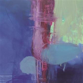 Gerlinde Amei Wöllmer - Azul Acrylic & Gouache on Canvas, Paintings