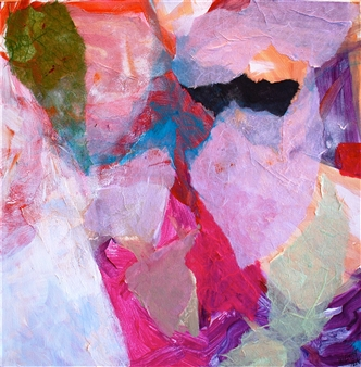 Wendy Yeager - Afterglow Mixed Media on Canvas, Mixed Media