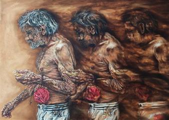 Vanessa Vilchis - La Lettura Invertita Sull´età Oil on Canvas, Paintings