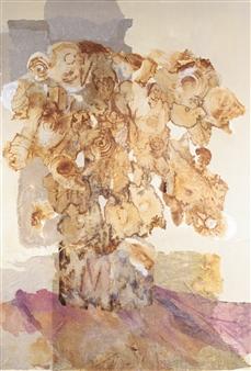Pauline Rakis - Victorian Lace Acrylic on Canvas, Paintings