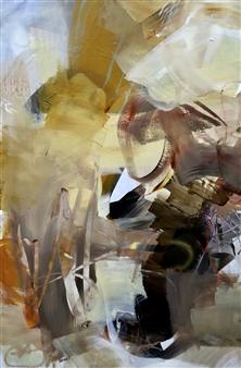 Abreesha Jones - Rebuilding Acrylic, Spray Paint, Oil Pastel on Canvas, Mixed Media