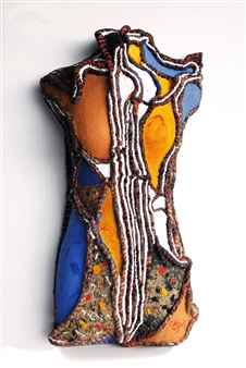 Heesu Choi - Outsider-A Acrylic on Sewing Jute, Sculpture
