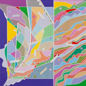Ai-Wen Wu Kratz - Color Logic IV Acrylic on Canvas, Paintings