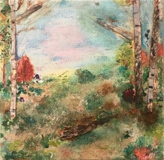 Jodi DeCrenza - Beginnings Acrylic on Canvas, Paintings