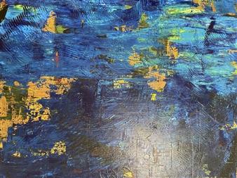 Ulrich T. Grabowski - Golden Island Acrylic on Canvas, Paintings