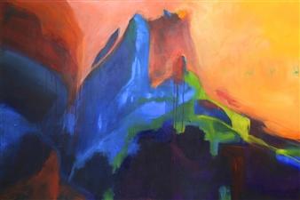 Tracey Harvey - Hoo Doo Hideout Acrylic on Canvas, Paintings