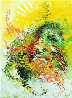 Richard RAN - Sensory Impression Acrylic on Canvas, Paintings