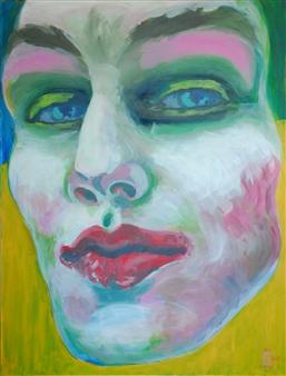 Eric Raffy - Trans 14 Acrylic on Canvas, Paintings