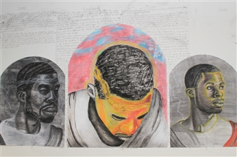 Markeith Woods - The Process Mixed Media on Paper, Mixed Media