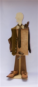 Emil Silberman - A Man Wood & Mixed Media, Mixed Media