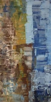 Mona Taqi - A Busy Street Acrylic on Canvas, Paintings