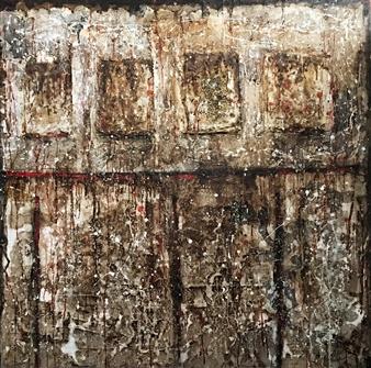 Lorena Becerra - Mi Tapiz (My Tapestry) Mixed Media on Canvas, Mixed Media
