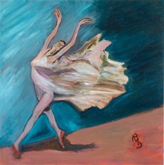Raul Mariaca Dalence - Isidora en Extasse Oil on Canvas, Paintings