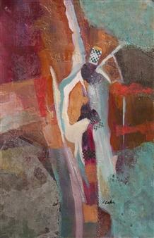 Pauline Rakis - Guardian Angel Acrylic on Canvas, Paintings