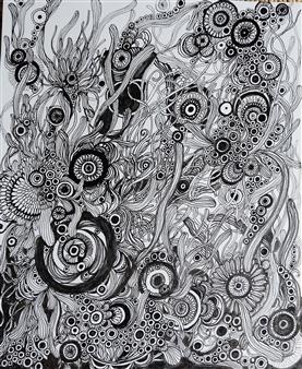 Kaoru Kushima - Plants Pen on Paper, Drawings