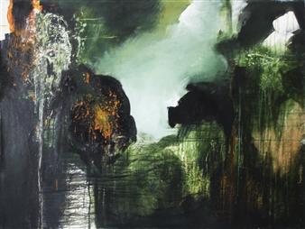 Saurabh Mohan - Mystery 4 Acrylic on Canvas, Paintings