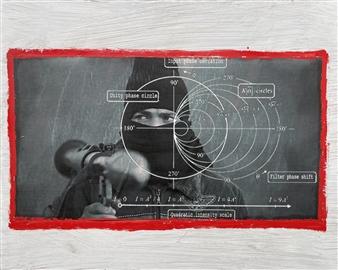 William Atkinson - Turbulence 2 Mixed Media on Board, Mixed Media