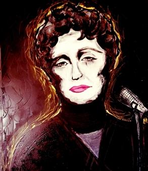 Franck Sastre - Edith Piaf Mixed Media on Canvas, Mixed Media